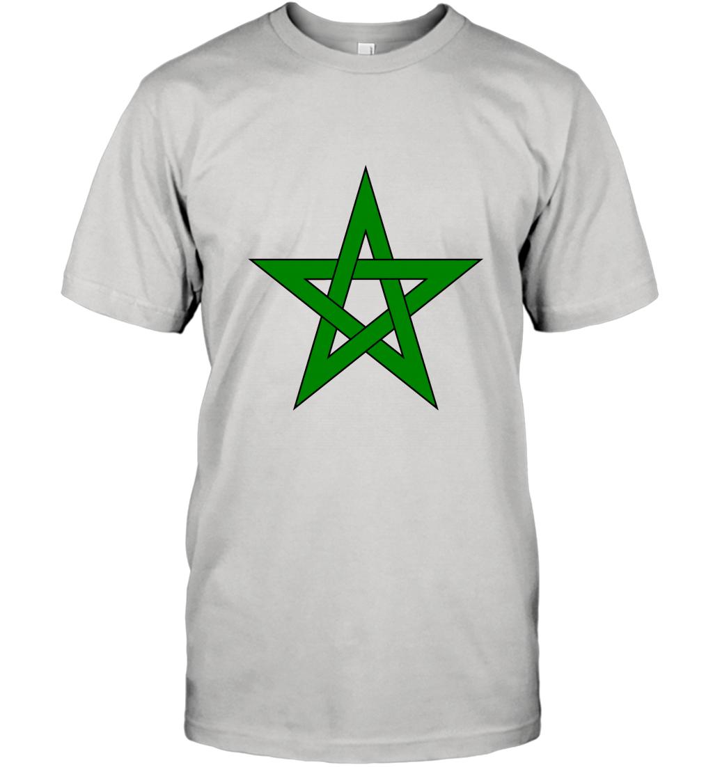 Morocco Flag T shirt Moroccan Seal Moorish American T-Shirt