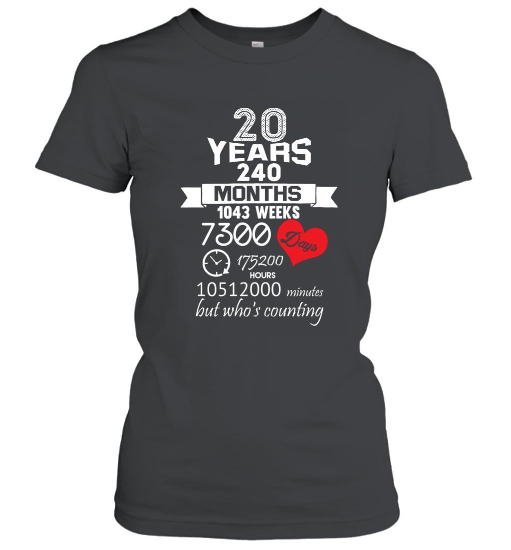 Anniversary Gift 20th  20 years Wedding Marriage ideas Women T-Shirt