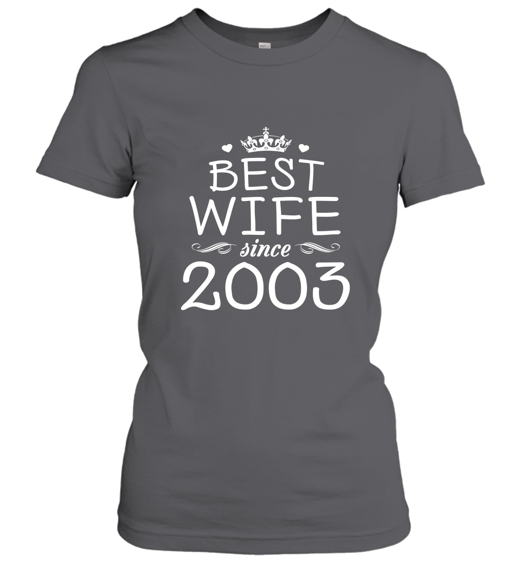 14th Wedding Anniversary Gift Ideas For Her Wife Since 2003 Women T-Shirt