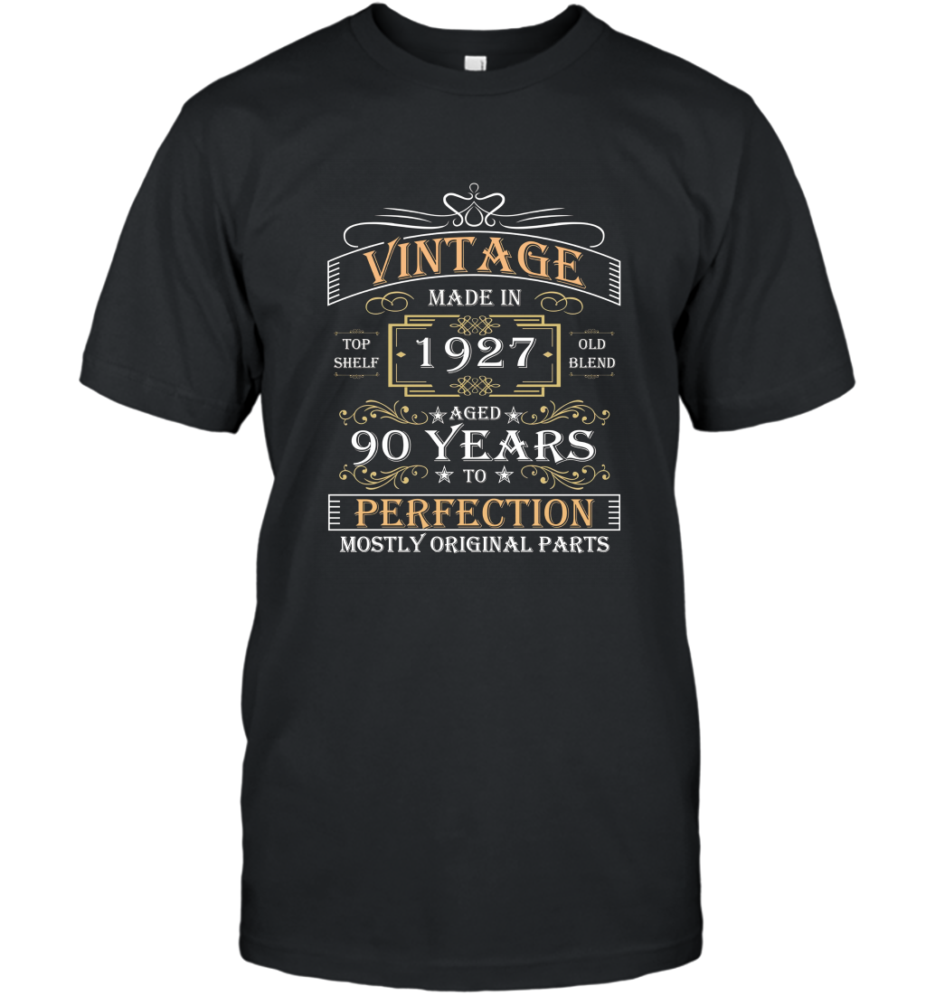 90th Birthday Gift Made In 1927 90 Years Perfection T Shirt T-Shirt