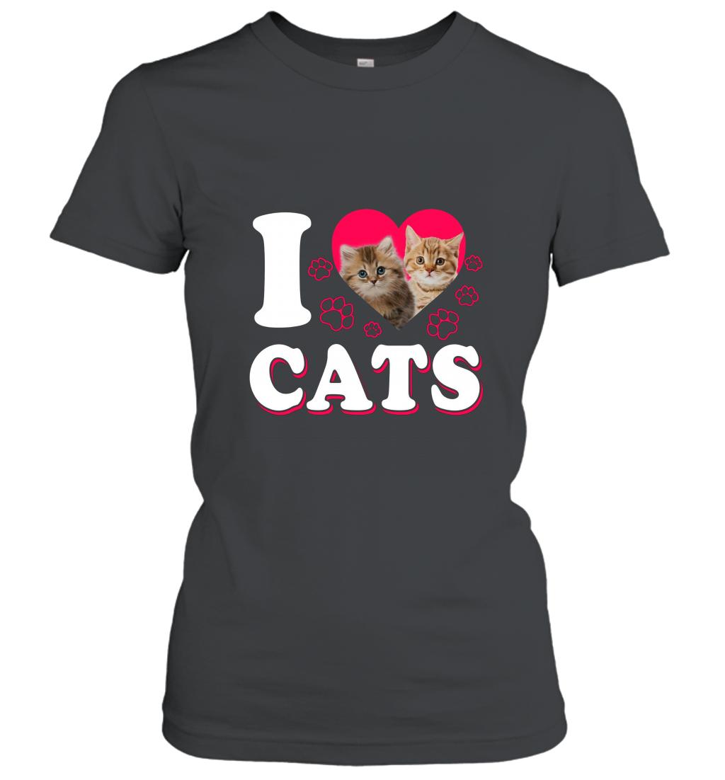 _I love Cats_ Cute Cat T Shirt Women T-Shirt