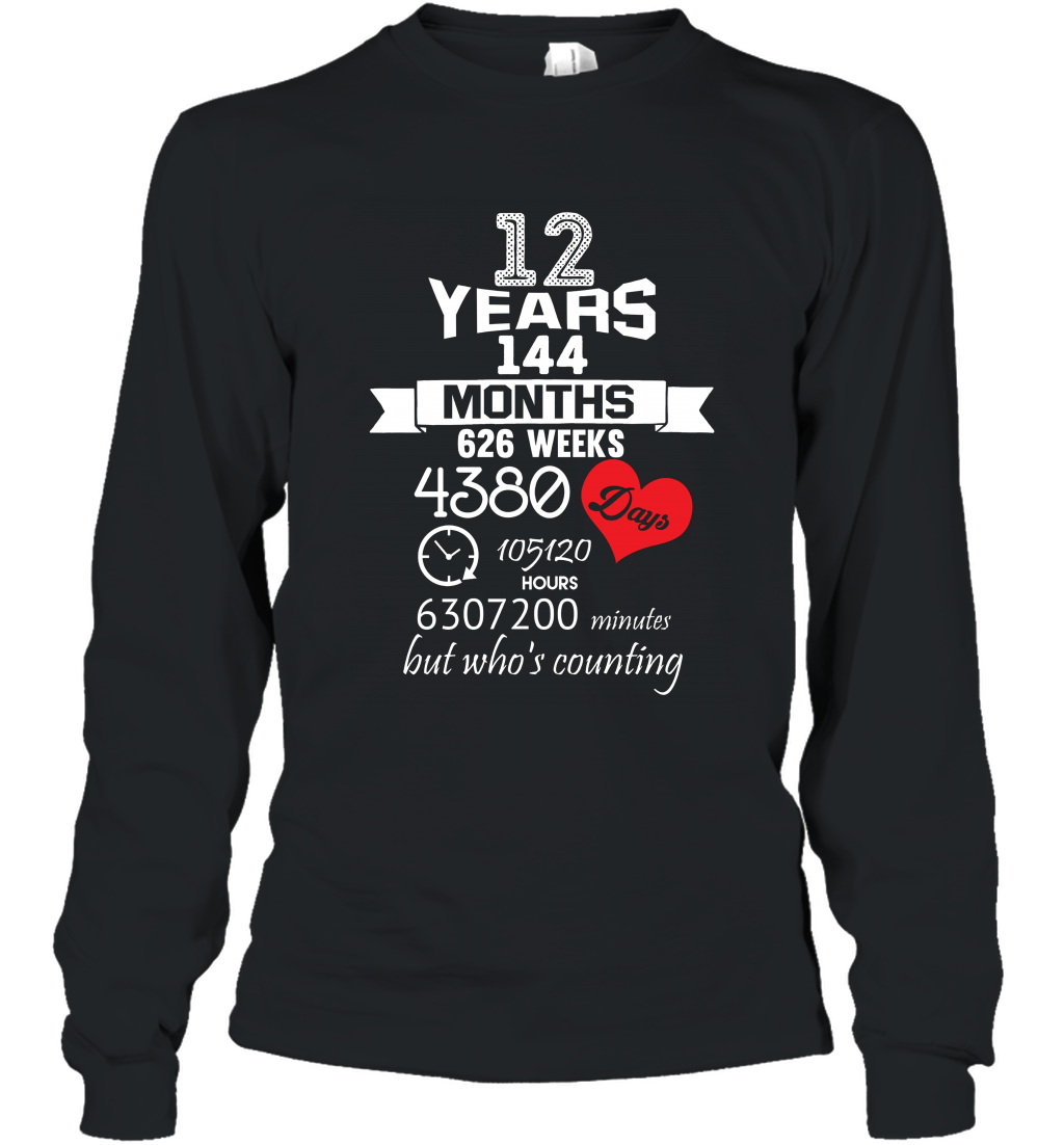Anniversary Gift 12th  12 years Wedding Marriage ideas Long Sleeve