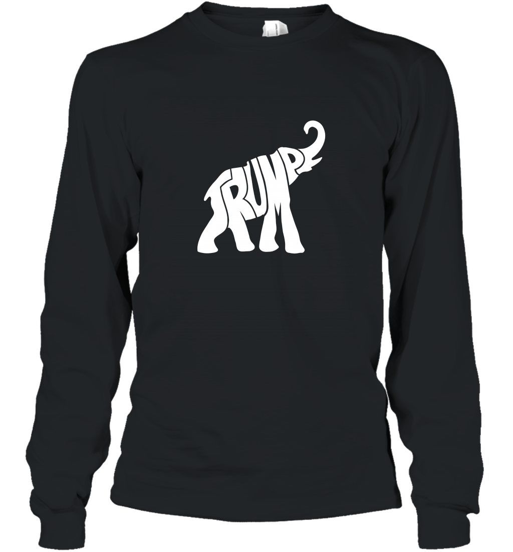 Trump Elephant Silhouette Long Sleeve