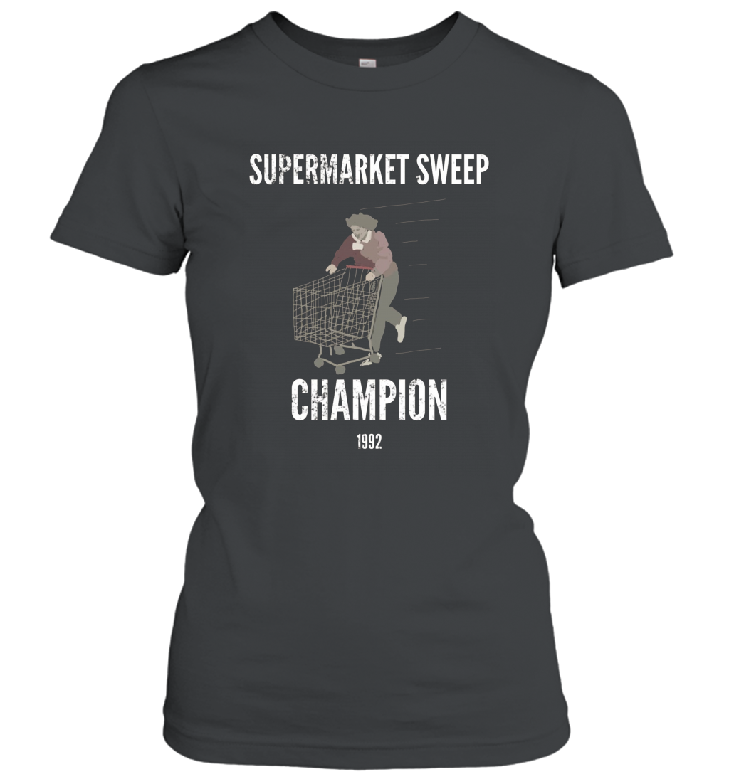 Retro Vintage 90_s Kids Funny Supermarket Sweep Champion Women T-Shirt