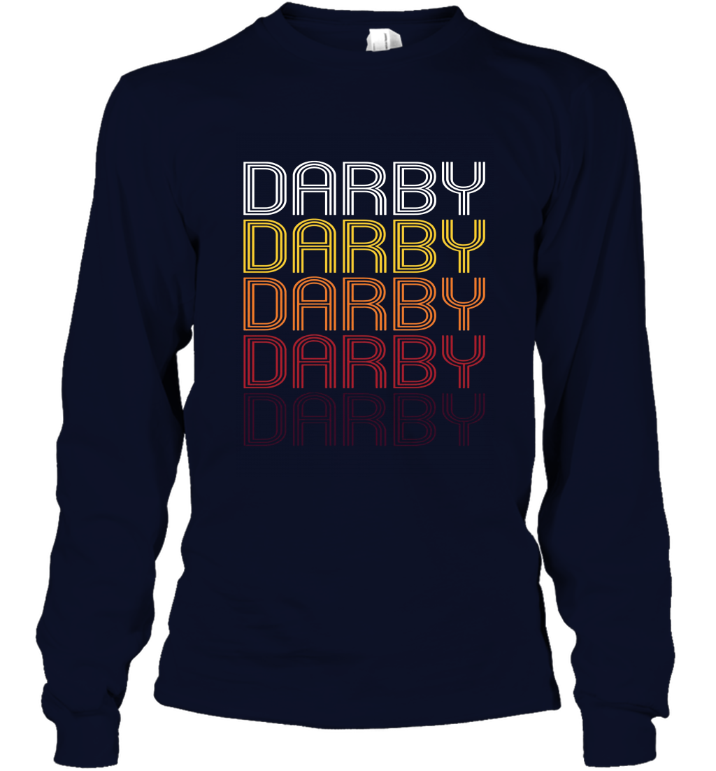 Darby PA Vintage Style Pennsylvania T shirt Long Sleeve