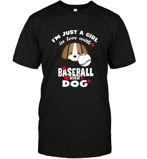 I'm Just A Girl In Love With Baseball And Dog T-Shirt