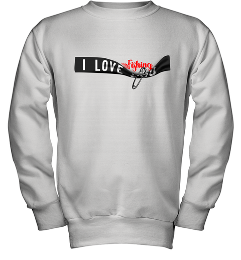 I Love Fishing Youth Sweatshirt