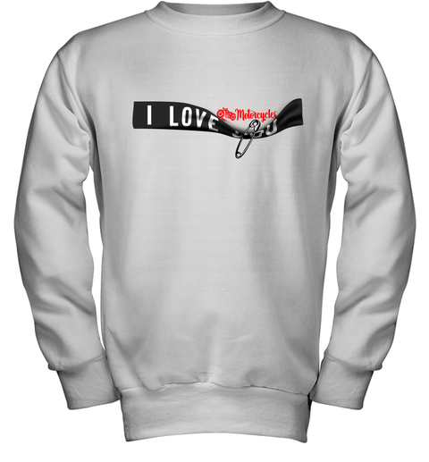 I Love Motorcycles Youth Sweatshirt