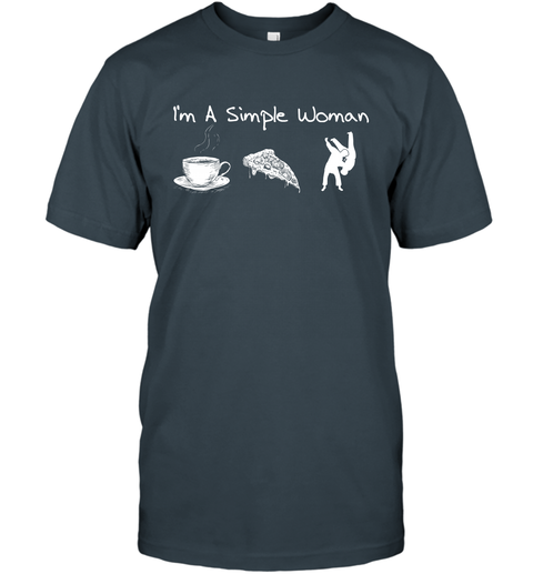 I'm A Simple Woman Tea Pizza and Judo T-Shirt 3