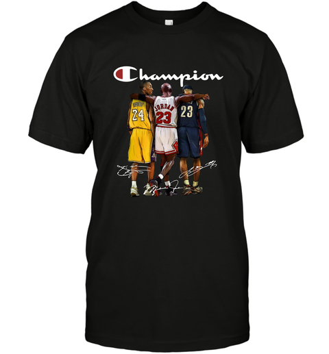 Kobe Bryant, Michael Jordan and LeBron James Champion T-Shirt