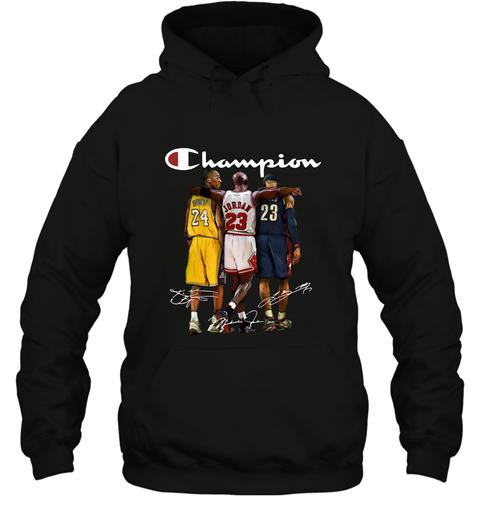 Kobe Bryant, Michael Jordan and LeBron James Champion Hoodie