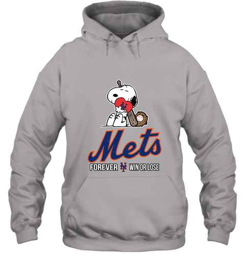 cheap for discount f7c90 ceaff MLB The Peanuts Movie Snoopy Forever Win Or Lose Baseball New York Mets  Hoodie