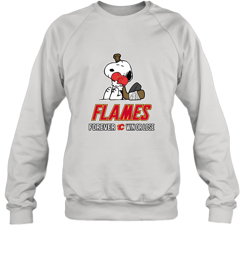 sale retailer 9c938 8617c NHL The Peanuts Movie Snoopy Forever Win Or Lose Hockey Calgary Flames  Sweatshirt