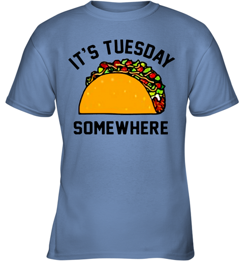 huge discount 2ce51 d5a86 LeBron James It's Tuesday somewhere taco Youth T-Shirt