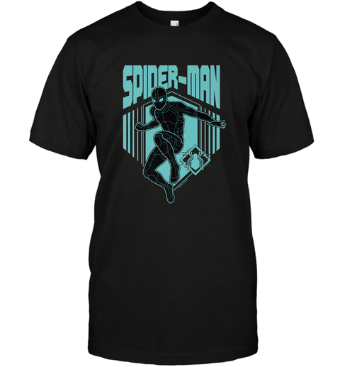 Marvel Spider Man Far From Home Stealth Suit Silhouette Men's T-Shirt